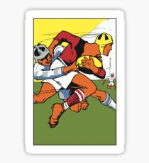 Retro rugby 1924 vector art Sticker