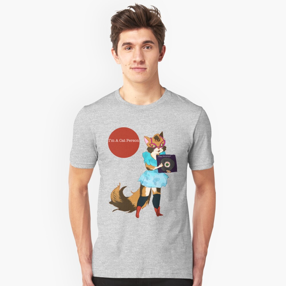 I'm a Cat Person-Girl Unisex T-Shirt Front