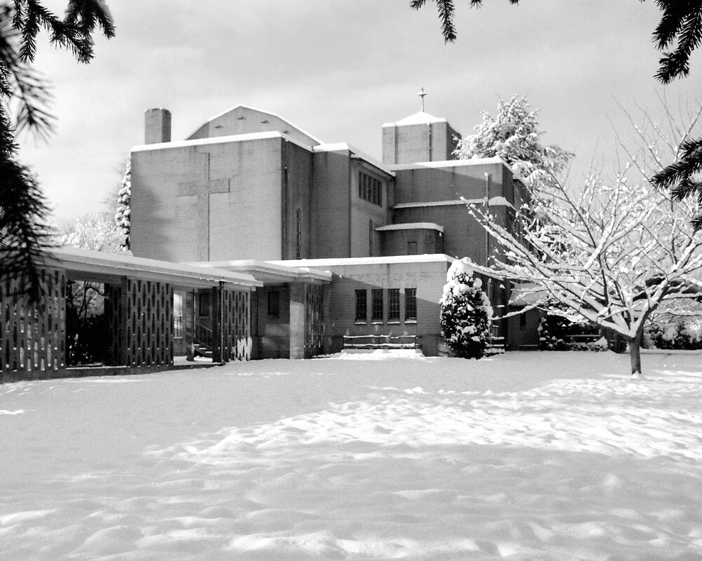 St. John's Shaughnessy in Snow 2 by Priscilla Turner