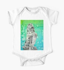 Traditional Watercolor and Ink Lion Statue  Kids Clothes