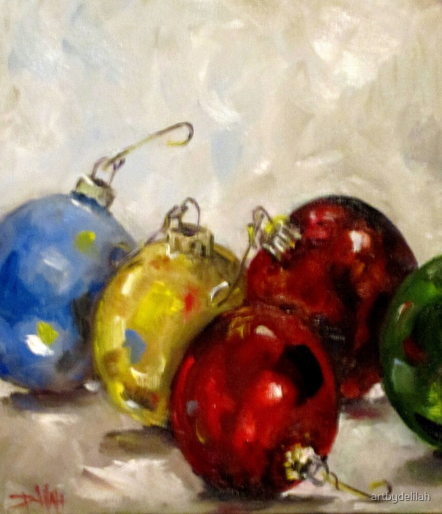 Christmas Ornaments by artbydelilah