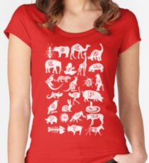 Animal A-z Women's Fitted Scoop T-Shirt