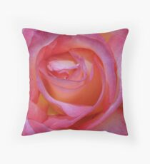 Bright Pink Rose Throw Pillow