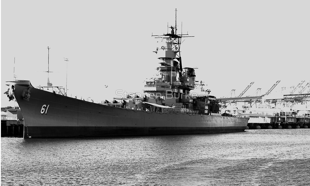 USS Iowa by Stephen Burke