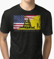 Amerikanische Gadsden-Flagge getragen Vintage T-Shirt