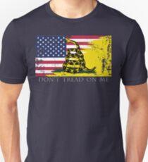 Camiseta unisex Bandera estadounidense de Gadsden usada
