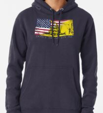 American Gadsden Flag Worn Pullover Hoodie