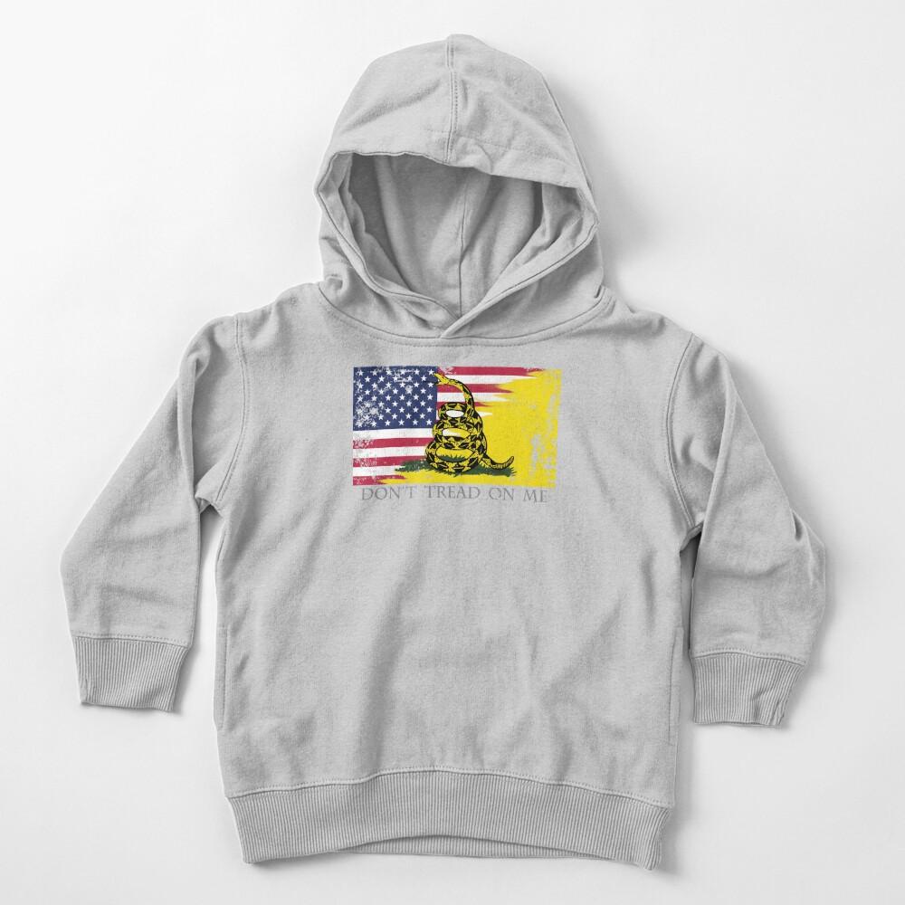 American Gadsden Flag Worn Toddler Pullover Hoodie