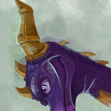 Spyro, The Dragon by marypotts