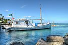 Boat docked at home on Eastern Road in Nassau, The Bahamas by Jeremy Lavender Photography