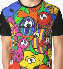 Fishy Business in Weed Patch Graphic T-Shirt