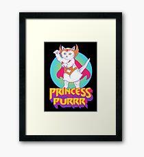 Princess of Purrr Framed Print