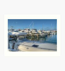 Busy Marina in Nassau, The Bahamas Art Print