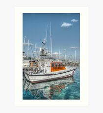 BASRA Rescue Boat in Nassau, The Bahamas Art Print