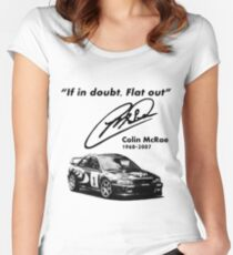 If in doubt, Flat out (with subaru) Women's Fitted Scoop T-Shirt