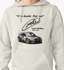 If in doubt, Flat out (with subaru) Pullover Hoodie