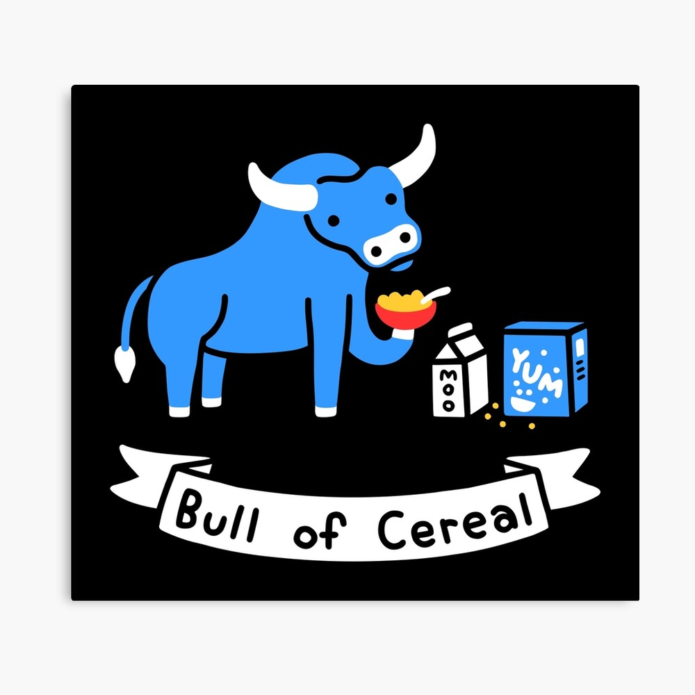 Bull of Cereal Canvas Print