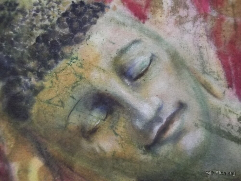 the face of the Reclining Buddhas  by Silk Alchemy
