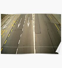 road lanes from above  Poster
