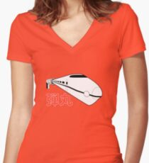 Bullet Train Women's Fitted V-Neck T-Shirt