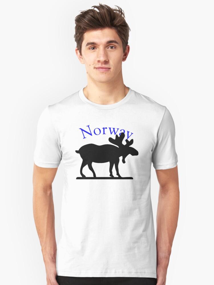 Norway Moose Unisex T-Shirt Front