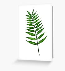 Leaf Print - 3 Greeting Card