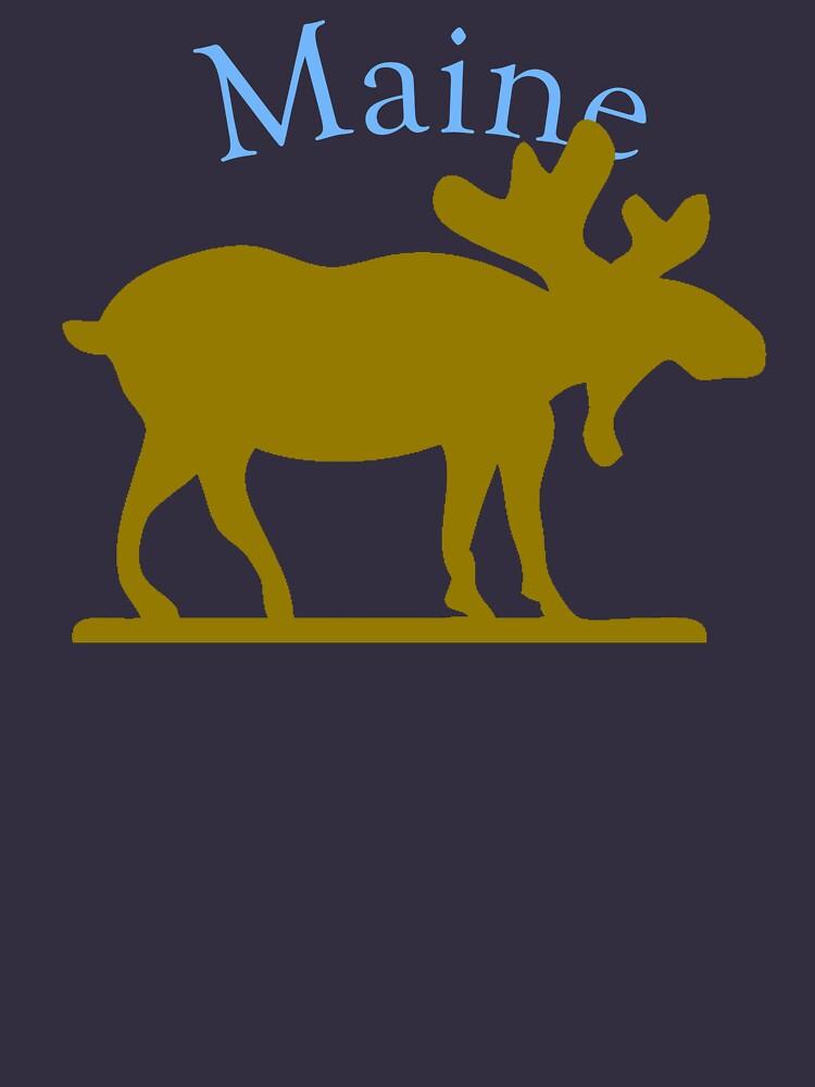 Maine Moose by pjwuebker
