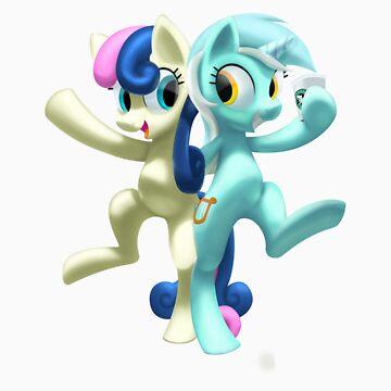 Lyra Heartstrings & Bonbon by BlakeFox
