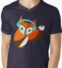 Winter Owl Men's V-Neck T-Shirt