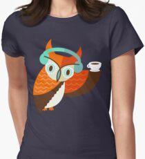 Winter Owl Tailliertes T-Shirt für Frauen