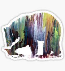 Bear art Sticker