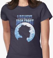 I Believe In Jack Frost Womens Fitted T-Shirt