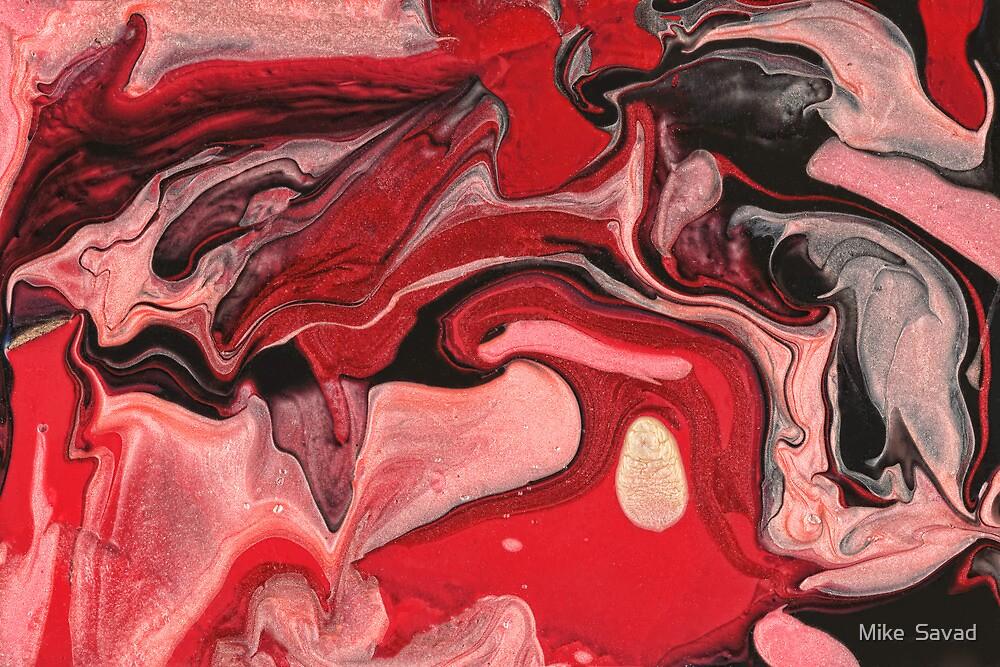 Abstract - Paint - Raspberry Nebula by Michael Savad