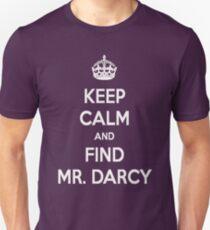 Keep Calm and Find Mr. Darcy Jane Austen Dark Color Unisex T-Shirt