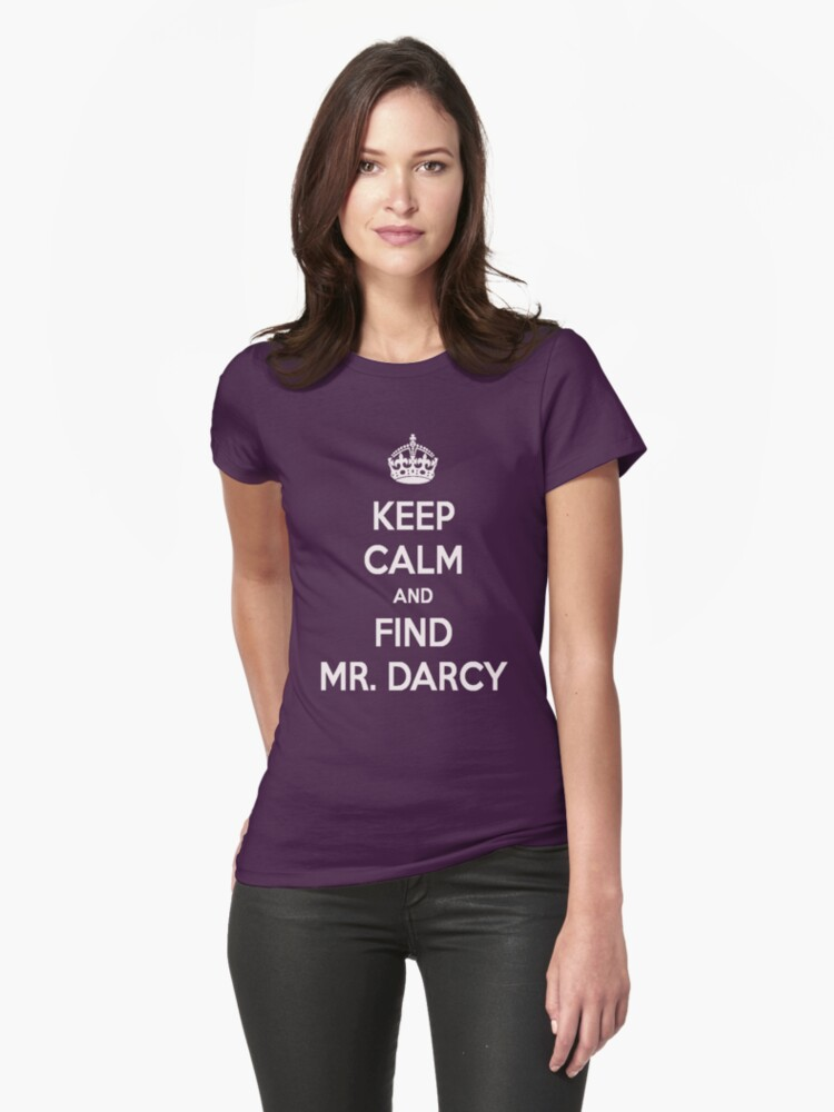 Keep Calm and Find Mr. Darcy Jane Austen Dark Color by frogcreek
