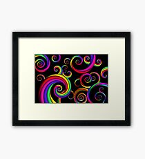 Abstract - Spirals - Inside a clown Framed Print