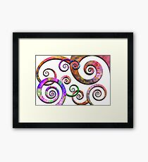 Abstract - Spirals - Planet X Framed Print