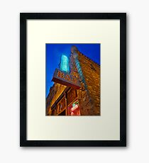 Glowing Oasis - Bar and Neon Signs at Night Framed Print