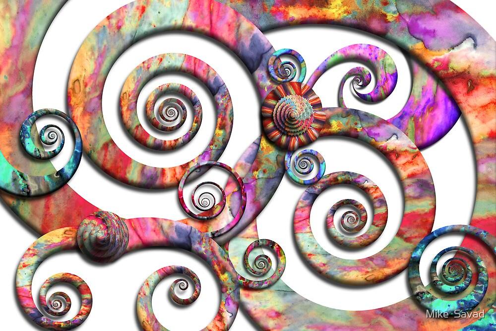 Abstract - Spirals - Wonderland by Michael Savad