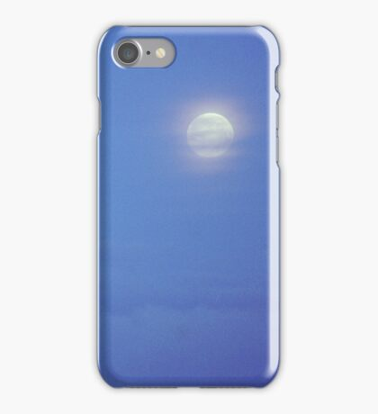 Full Moon over Brussels iPhone Case/Skin