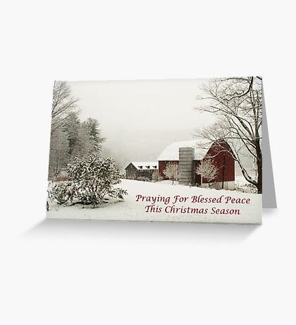 Blessed Peace Christmas Card Greeting Card