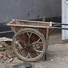 Rustic Chinese Wheelbarrow by HilaryAnne