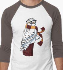 Hipster Owl Men's Baseball ¾ T-Shirt