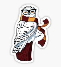 Hipster Owl Sticker