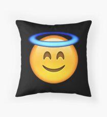 Angel emoji Throw Pillow