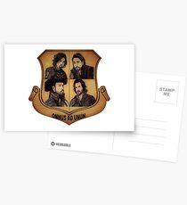 The Musketeer Shield - OMNUS AD UNUM Postcards