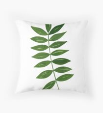 Leaf Print - 4 Throw Pillow