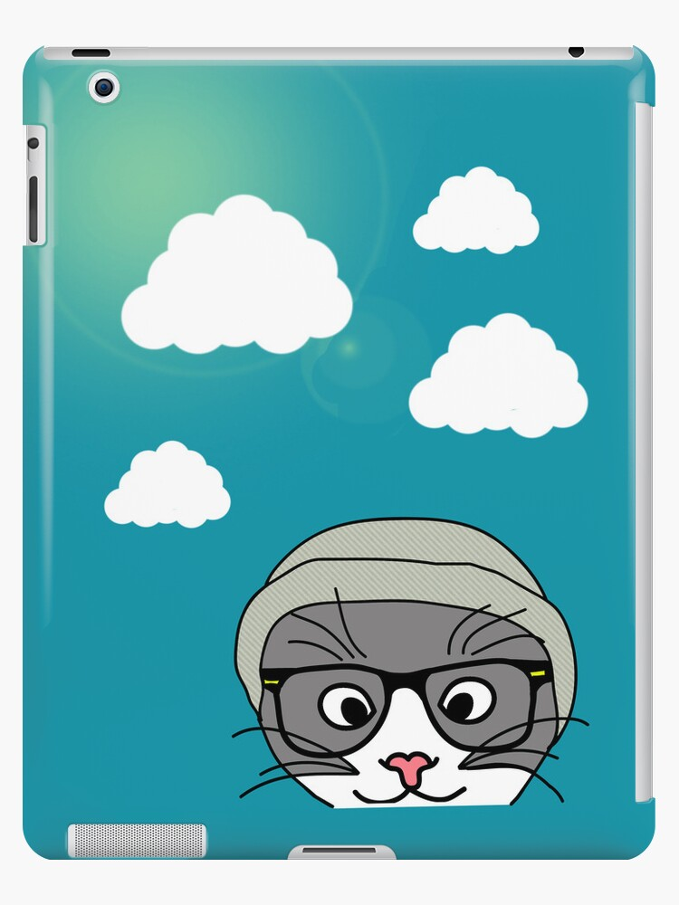 Hipster cat and clouds by TatiDuarte