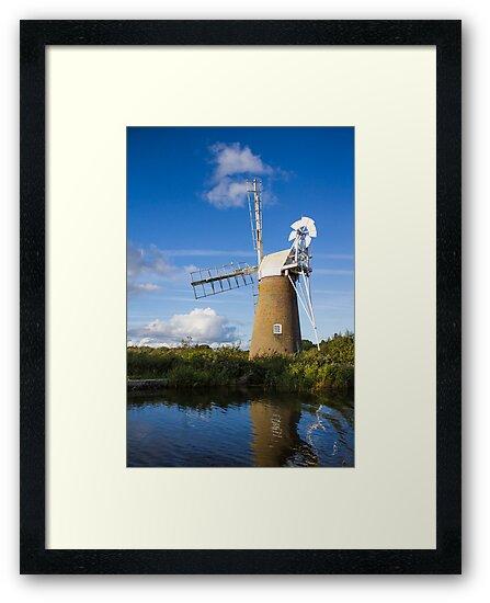 Windmill on Norfolk Broads by ChrisChallenger