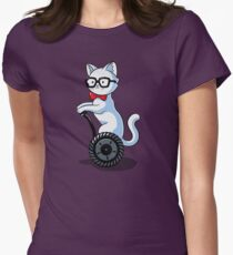 White and Nerdy Womens Fitted T-Shirt